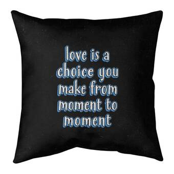 East Urban Home Multicolor Background Choose Joy Quote Pillow Cover No Fill Faux Suede Wayfair