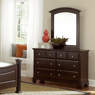 Cedar Drive 6 Drawer Double Dresser with Mirror