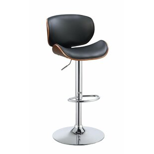 Inexpensive Justin Adjustable Height Swivel Bar Stool By George Oliver