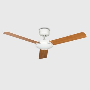 Ceiling fans remote control with lights wayfair 106cm bellevue 3 blade ceiling fan with remote control aloadofball Images