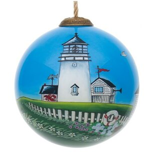 coastal lighthouse ball ornament