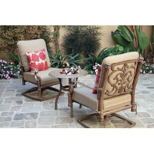 Palazzo Sasso 3 Piece Conversation Set With Cushions by Astoria Grand Savings