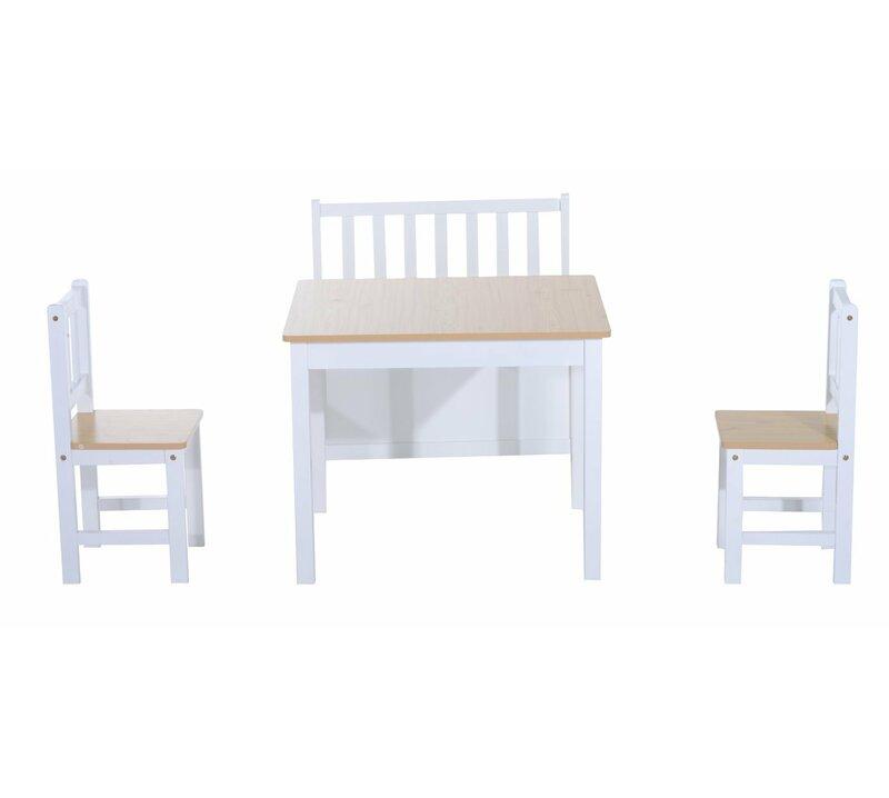 Homcom 4 Tlg Kinder Tisch Und Stuhl Set Bewertungen Wayfair De