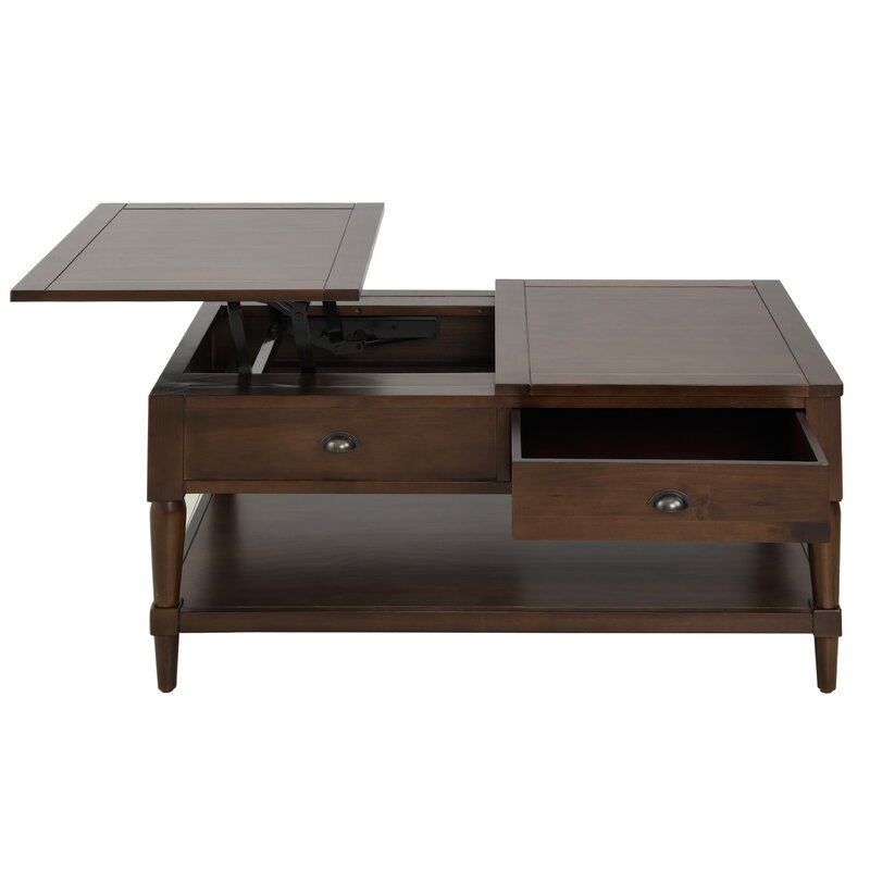 Rosalind Wheeler Littles Solid Wood Lift Top Coffee Table With Storage Wayfair