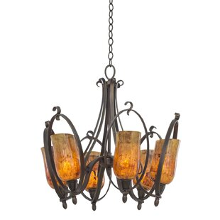 Kalco Mateo 6-Light Shaded Chandelier