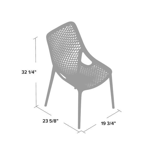 Mercury Row Deines Modern Stacking Patio Dining Chair Wayfair