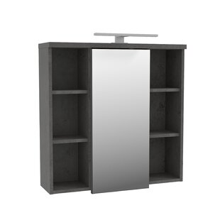 Aceituno 69cm X 68cm Mirrored Wall Mounted Cabinet By Ebern Designs