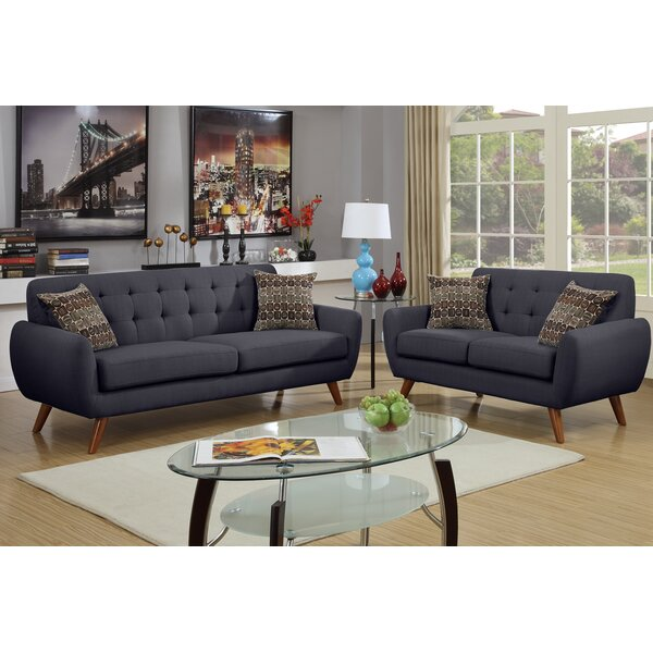 Langley Street Wooten 2 Piece Sofa And Loveseat Set U0026 Reviews | Wayfair