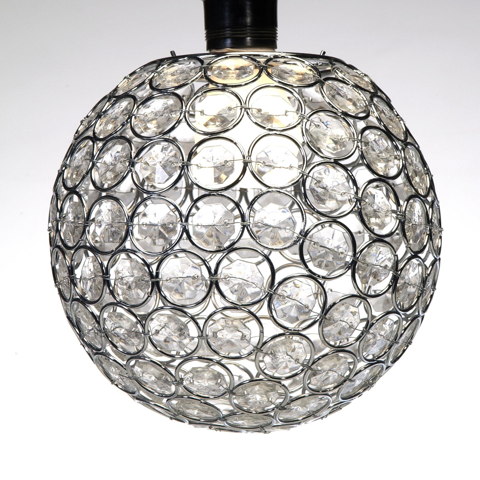 House of hampton bloomquist 6 5 crystal globe chandelier wayfair
