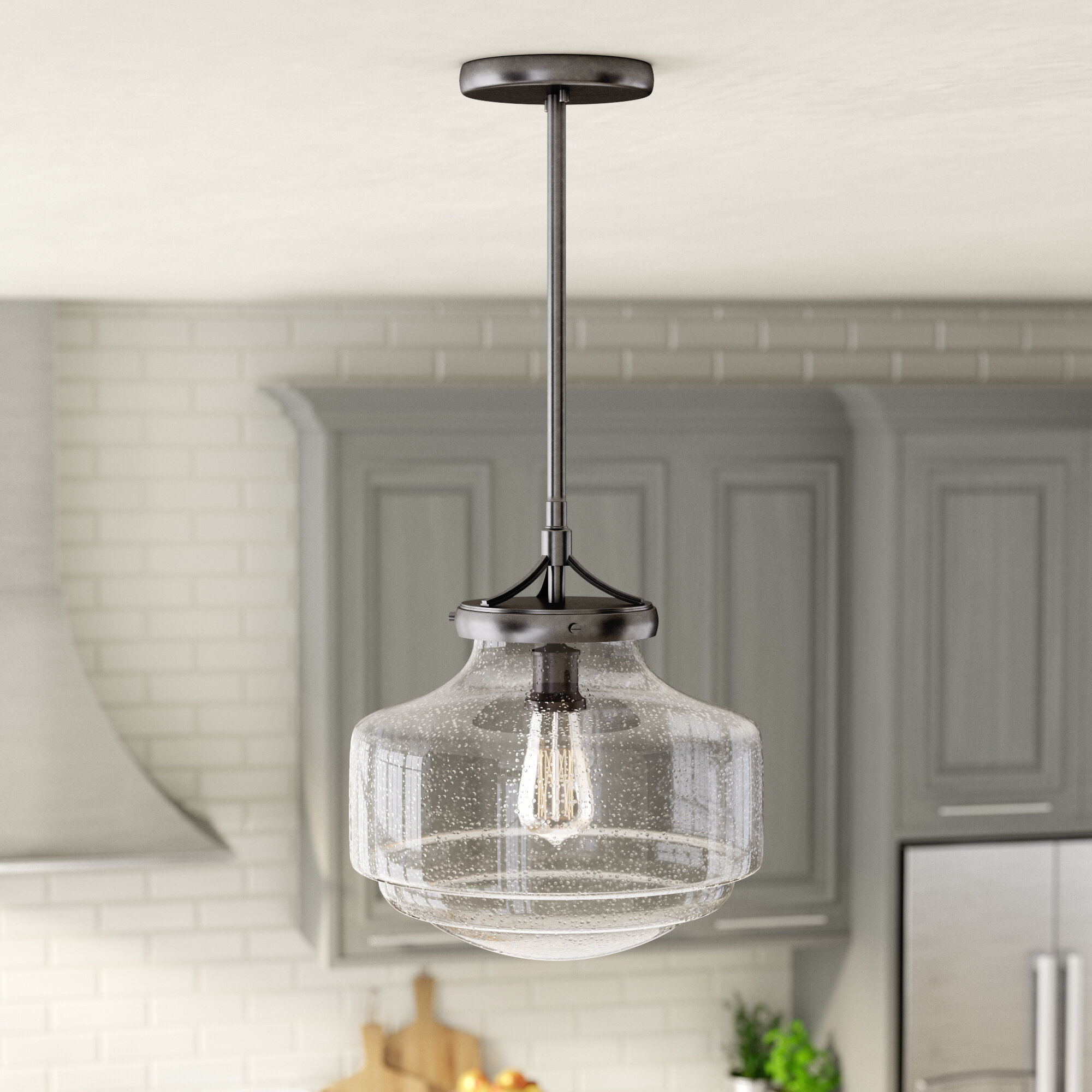 Laurel Foundry Modern Farmhouse Light 1 Schoolhouse Pendant Reviews Wayfair