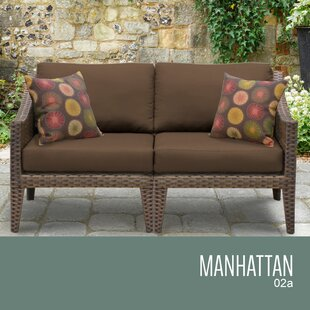 Manhattan Outdoor Loveseat With Cushions By TK Classics