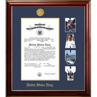 Navy Certificate Petite Picture Frame By Patriot Frames