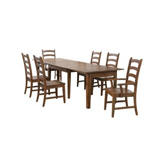 Huerfano Valley 7 Piece Extendable Dining Set Loon Peak