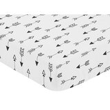 Fox Arrow Print Fitted Crib Sheet