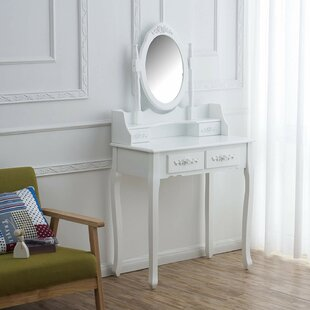 Caoimhe Dressing Table Set With Mirror By Lily Manor