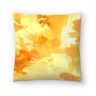 Bomb Pop Yellow Throw Pillow
