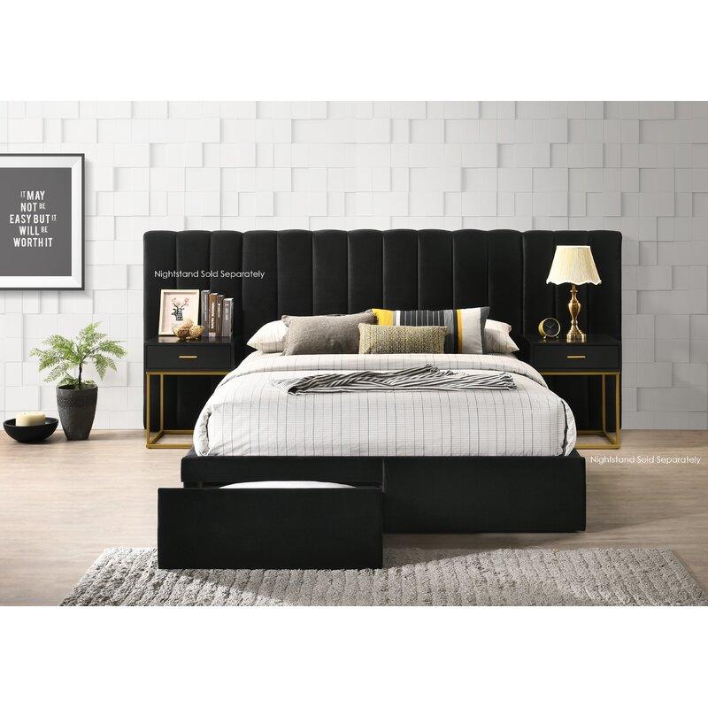 Alcott Hill® Stone Velvet Standard Configurable Bedroom ...