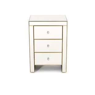 Montecello Mirror 3 Drawer Nightstand by Rosdorf Park