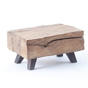 Kwan Wood Block Mini End Table by Union Rustic