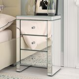 Narrow Mirrored Bedside Table Wayfair Co Uk