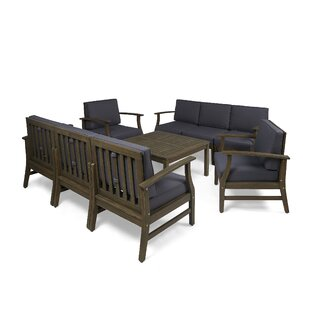 Bridgers Outdoor 9 Piece Sofa Seating Group with Cushions
