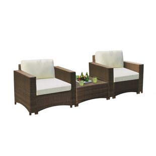 Defranco Modular Bistro 3 Piece with Cushions by Highland Dunes