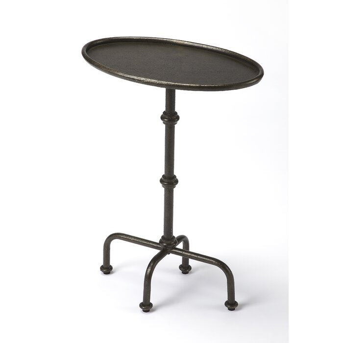 Clamp Pedestal End Table