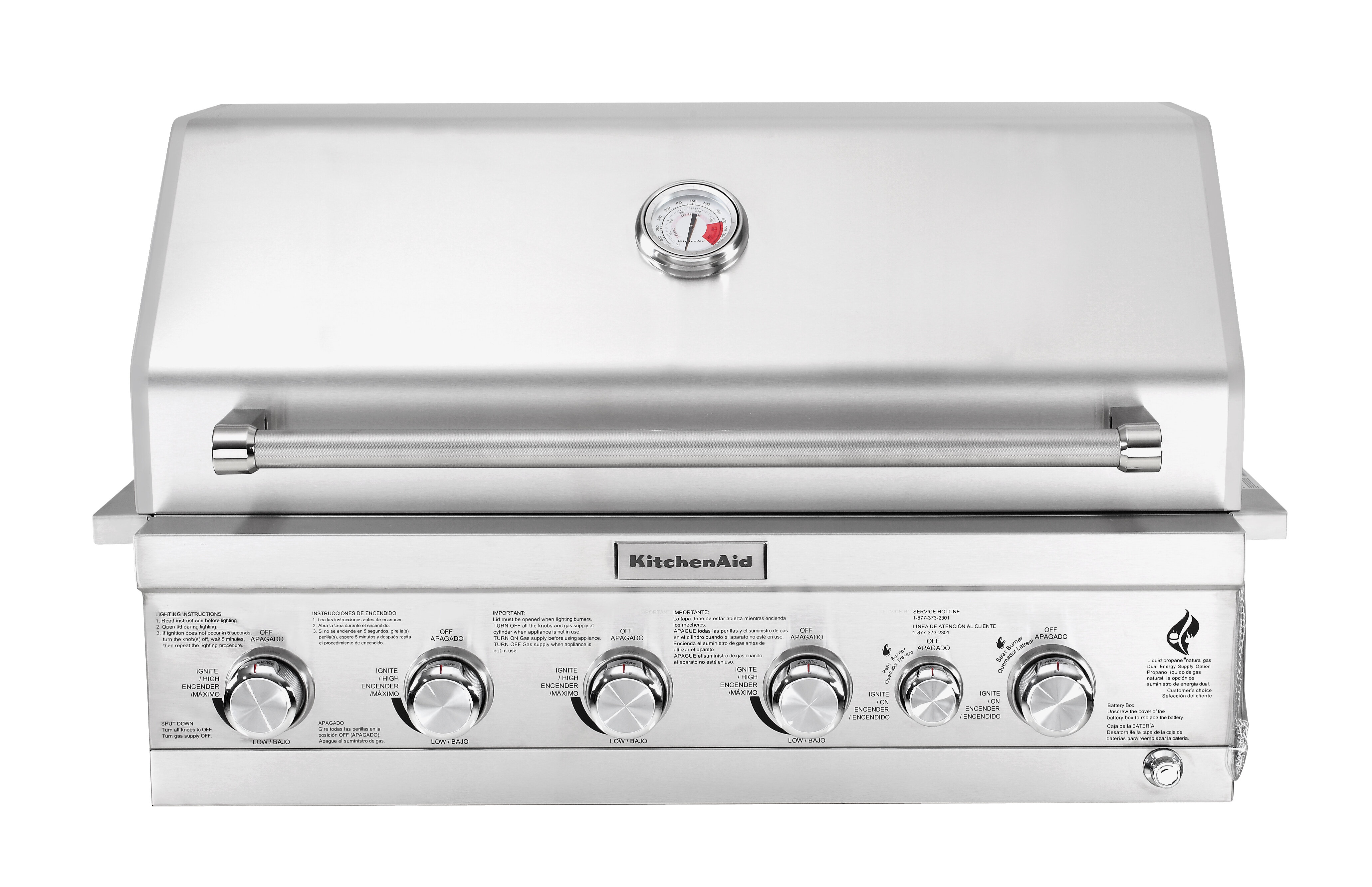 KitchenAid 4-Burner Built-In Liquid Propane Gas Grill - 740