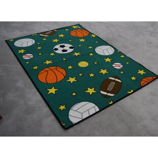 Clearance Edford Wool Blue/Green Area Rug By Zoomie Kids