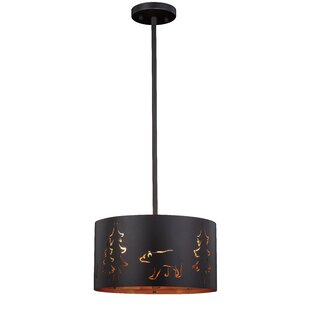 Barnabas 3-Light Drum Pendant by Millwood Pines