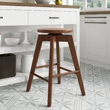 Drubin Swivel Solid Wood 25 Counter Stool by George Oliver