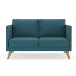 Shop Coyle Oxford Weave Loveseat by Corrigan Studio
