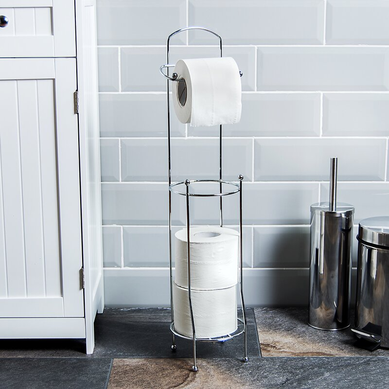 Free standing toilet roll holder