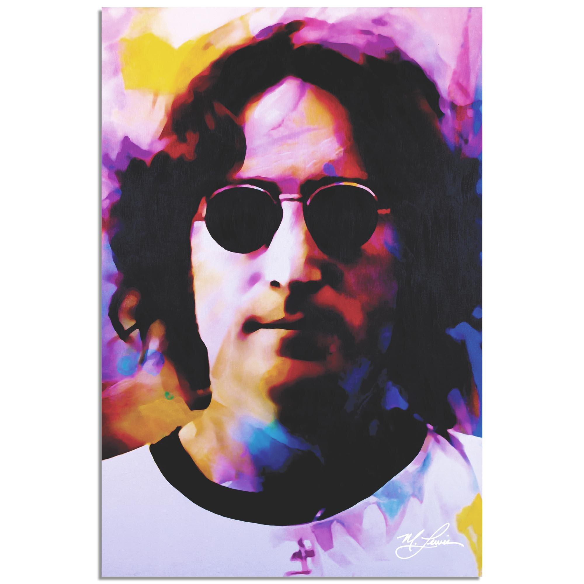 8a417a463c048 East Urban Home  John Lennon Dance of Emotion  Acrylic Painting Print