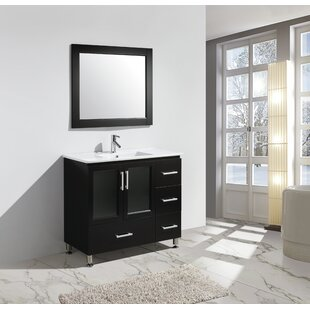 Pratt 40 Single Sink Vanity Set with Mirror by dCOR design