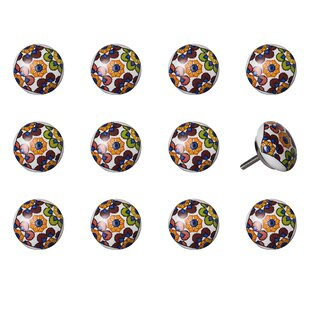 Handpainted Mushroom Knob (Set of 12)