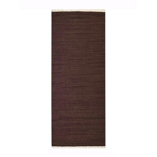 Cottesmore Hand-Woven Wool Dark Brown Area Rug by Bloomsbury Market