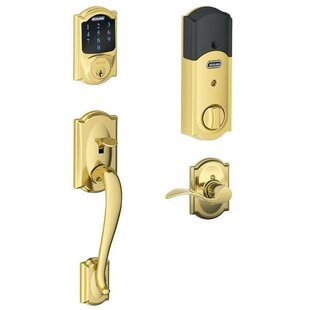 FE Series Camelot Handleset with Touchscreen Deadbolt and interior Accent Lever by Schlage