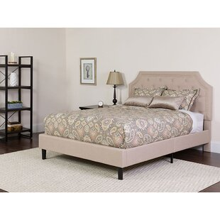 Carley Upholstered Platform Bed with Mattress