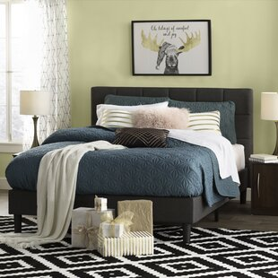 queen size platform frame rustic colby upholstered platform bed queen size beds youll love wayfair