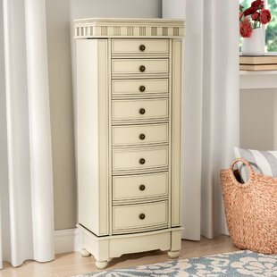 Three Posts O'brien Jewelry Armoire with Mirror