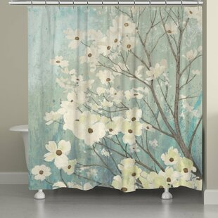 Gordonsville Dogwood Blooms Shower Curtain by Red Barrel Studio