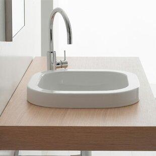Scarabeo by Nameeks Next Ceramic Square Drop-In Bathroom Sink