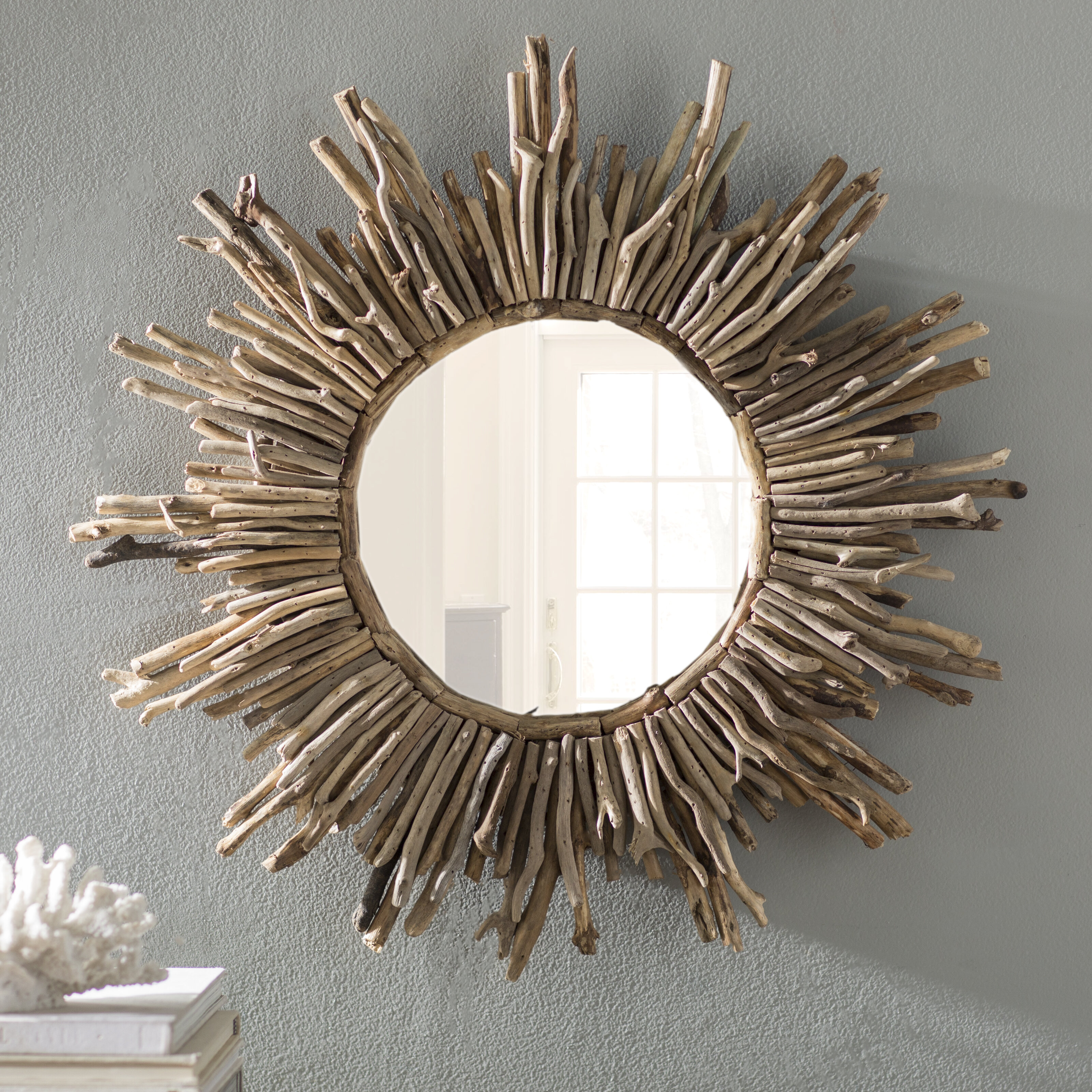 Birch Lane Flinchum Sunburst Traditional Accent Mirror Reviews Wayfair Ca