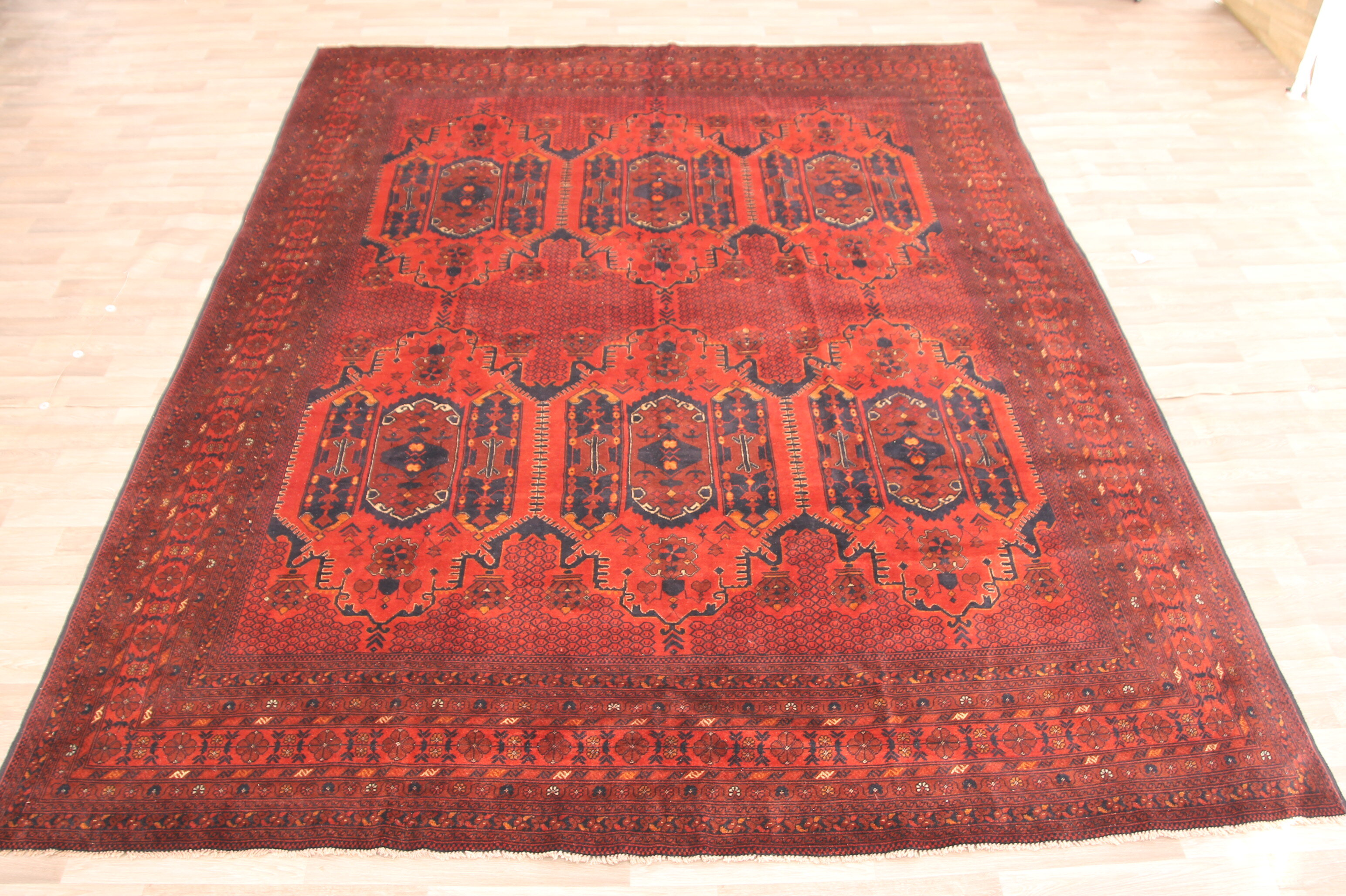 Bloomsbury Market One Of A Kind Kosuna Hand Knotted Red 10 1 X 12 8 Wool Area Rug Wayfair