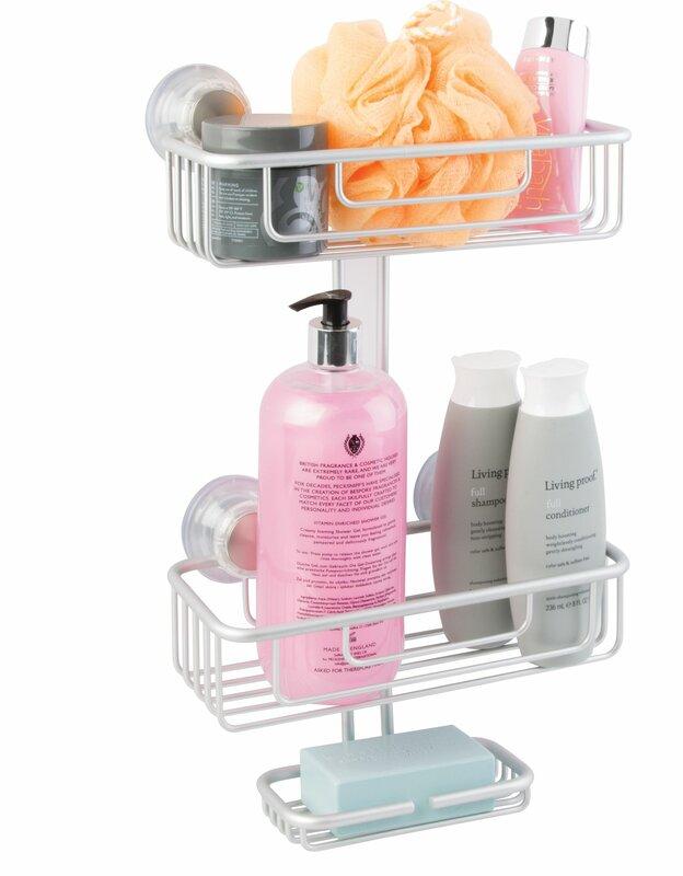 InterDesign Metro Aluminum 3 Tier Suction Shower Caddy & Reviews ...