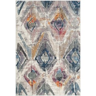 Taulbee Transitional Lavender/Light Grey Rug by Brayden Studio