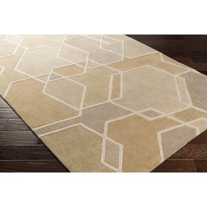 Vaughan Hand-Tufted Green/Brown Area Rug
