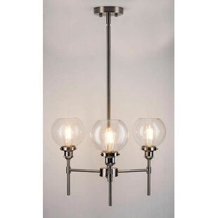 Dunneback 3-Light Shaded Chandelier by Mercury Row