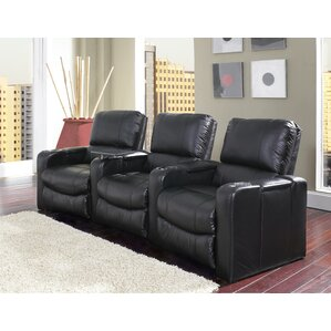 Curved Home Theater Recliner (Row of 3) by Latitude Run
